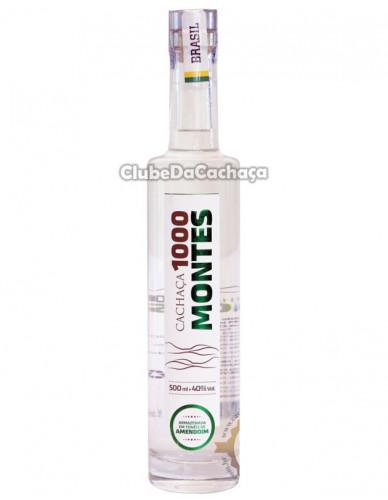 Cachaça 1000 Montes Amendoim Extra Premium 6 Anos 500 ml