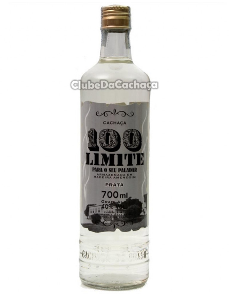 Cachaça 100 Limite Prata 700 ml