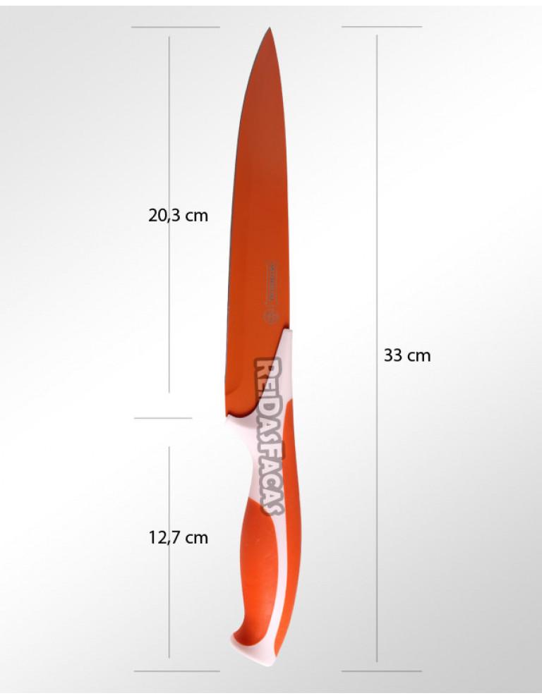 """FACA COZINHA 8"""" 20,3 cm MUNDIAL LARANJA 7711-8"""